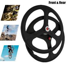 700c Fixie Fixed Gear 3 Spoke Single Speed Bike Front + Rear Mag Wheels Set New
