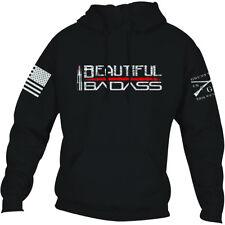 Кряхти женский стиль свободный покрой красивый Badass 2.0 пуловер толстовка с капюшоном-черный