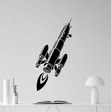 Spaceship Wall Decal Space Ship Rocket Nursery Vinyl Sticker Decor Mural 44hor