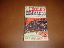 1958 LINCOLN'S COMMANDO William Cushing,Ralph Roske,Charles Van Doren,civil war