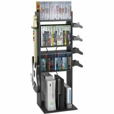 Storage Shelf Media Gamer Organizer Versatile Unit Living Room Rack Tower Videos