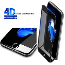 Full Curved 4D Tempered Glass Screen Protector Flim For Apple iPhone 7 Black