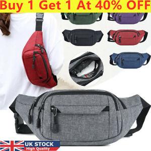 Unisex Men Women Canvas Waist Bum Bags Fanny Pack Travel Money Belt Pouch Wallet