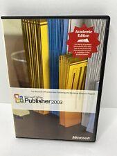 Microsoft Office Publisher 2003 Disk/case Key