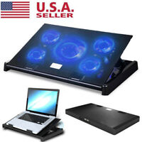 11-17 inch Laptop Cooling Pad 5 Fans Gaming Notebook Cooler LED Fan Dual USB US