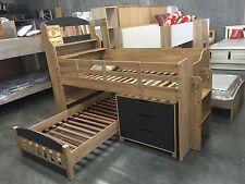 loft bunk  single bed oak charcoal Kids NEW IN BOX