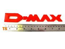 """RED COLOR LOGO REAR """" D-MAX """" ISUZU RODEO D-MAX DMAX V-CROSS 4WD 2WD 2012-2015"""