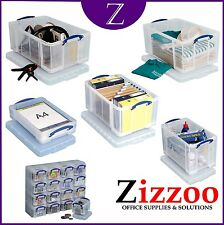Really Useful Organiser 16 X 0.14 Litre Storage Boxes in a Clear Plastic and