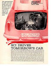 1960 NSU PRINZ ~ ORIGINAL 3-PAGE ARTICLE / AD