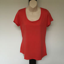 'WITCHERY' EC SIZE 'L' ORANGE COTTON SHORT SLEEVE TOP