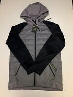 Nike mens Grey synthetic fill Therma Winterized jacket A01440-056 SZ M