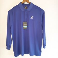 Page & Tuttle Mens Blue 2XL Polo Shirt Clear2pay Pullover Cool Swing Msrp $65.00