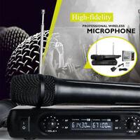 🔥2X Wireless Microphone Cordless Handheld Mic Karaoke KTV Player DJ Speaker