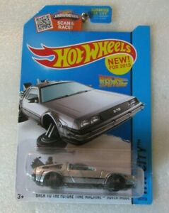 Hot Wheels Back to the Future Time Machine Hover Mode Die Cast Mattel 2015