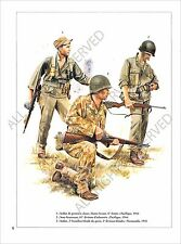 PLANCHE UNIFORM PRINT WWII USA infantry US ARMY Alarmo Scouts Pacific 1944