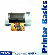 Epson Ink Jet Stylus Photo 785EPX Printer Basic Manual * Shipped FAST!