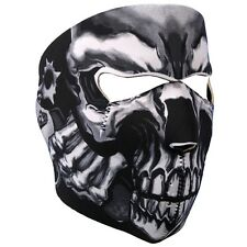 Assassin Skull Gun Neoprene Full Face Mask Biker Ski Paintball Free Shipping