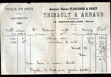 "LA CHARITE-sur-LOIRE (58) TISSUS en gros ""PLANCHARD & NARCY / THIBAULT & ARNAUD"""
