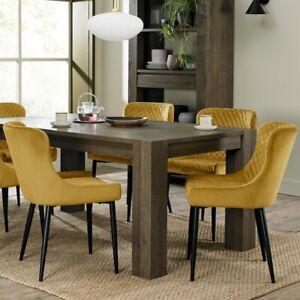 Constable / Sierra Fumed Oak 6 Seat Dining Table