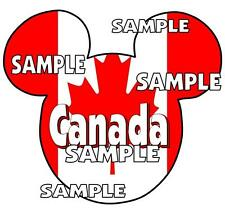 Disney Epcot Canada Mickey Ears Scrapbook Paper Die Cut Embellishment Piece