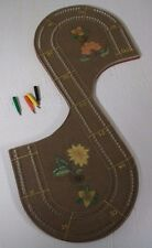 Vintage Cribbage Board With 4 Pegs / 2 tracks | Hand Painted | 1982