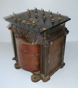 1930s Hilco HT transformer for a 500 watt radio transmitter