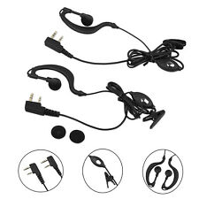 2PCS G-Shape Security Mic Earpiece Headset For Baofeng Radio Walkie Talkie 2 Pin