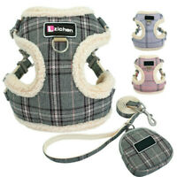 Small Puppy Dog Harness Vest Lead Winter Fleece Padded Pet Clothes Chihuahua Pug