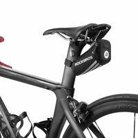 RockBros Road Bike MTB Mini Bicycle Bag Reflective Seat Storage Saddle Bag Black