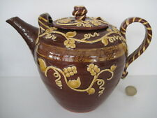 DAVID CLEVERLY HAYTOWN LARGE TEAPOT PERSONALISED TUBELINED  STUDIO ART POTTERY