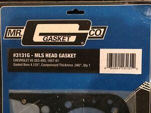New Mr. Gasket 3131G MLS Head Gasket Chevrolet V8 283-400 1957-91 Gasket Bore
