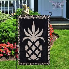 """Light-Up Pineapple garden flag 12"""" X 18"""" applique fiberoptic pineapple flag"""