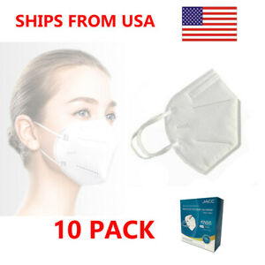 10 Pieces KN95 GB2626-2006 Protective Face Mask - CDC Approved - 10 Pack