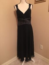 NEXT Size 12 UK Sizing Dress Formal Black with Sequins