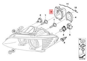 Genuine BMW E90N E91N Sedan Covering Cap High Beam Right OEM 63127238827