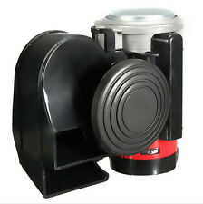 Car Vehicle Motorcycle Yacht Boat 12V 139db Black Snail Compact Dual Air Horn