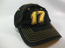 Matt Kenseth 17  Nascar Hat Black Yellow Strapback Baseball Cap