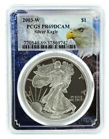 2003 W 1oz Silver Eagle Proof PCGS PR69 DCAM - Eagle Frame
