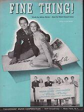 Fine Thing 1947 William Holden Joan Caulfield Dear Ruth Sheet Music