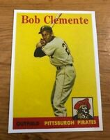 1958 Topps Reprint #52 Roberto Bob Clemente Pittsburgh Pirates Card MINT RP