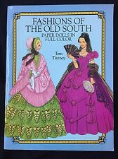 Old South Fashion Gone With The Wind Dress Paper Dolls Uncut