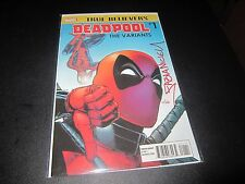 TRUE BELIEVERS: DEADPOOL THE VARIANTS SIGNED BY FABIAN NICIEZA WITH COA FROM DF!