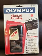 Brand NEW Olympus Pearlcorder S950 Dictaphone Cassette Recorder BLACK