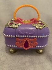Vintage Polly Pocket Jewel Secrets Jewel Case - Purple - Bluebird 1997