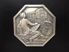 FRANCE / MYTHOLOGY MERCURY GOD OF TRADE / GREAT WHITE METAL MEDAL BY GLORIA M65