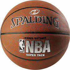 Spalding NBA Super Tack Basketball Leather Cover Play Indoor Official Size 29.5""
