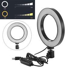 """13"""" LED Studio Ring Light Dimmable Light Photo Video Lamp Kit For Camera Shoot"""