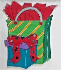 Shimmering Gift Bag Garden Flag by Evergreen, Real Sequins!  #6457