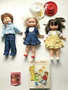 "Fisher Price My Friend 16"" Boy Doll, Friend of Mikey Jenny Patterns Lot"