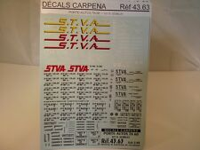 "DECALS TRAIN 1/43 MARQUAGES WAGONS PORTE-AUTOS TA 60 "" STVA "" - CARPENA  4363"